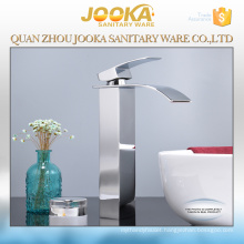 Tall waterfall bathroom basin faucet