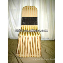Satin stripe chair cover for banquet/wedding