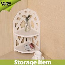 Étagère d'angle en plastique décorative imperméable à la maison de stockage de WPC