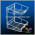 High quality custom multifunction white metal wire countertop bread display rack