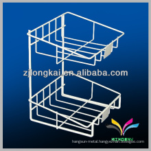 High quality custom multifunction white metal wire countertop bread display rack