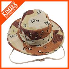 Großhandelsgewohnheit preiswerter gedruckter gestickter Wannen-Hut mit Schnur