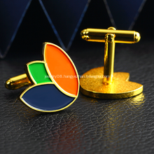 Custom Own Logo Metal Gold Plated Men Cufflink