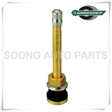 TR570 Brass Tubeless Truck and Bus Tire Valves