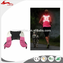 High Quality Logo Printed Promotional Cheap Sports Led Reflective Running Vest