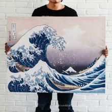 Grande pintura da onda