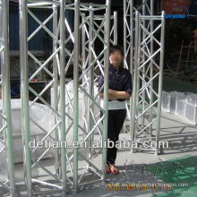 Stand ferial Portátil utilizado braguero de aluminio truss tubular en Shanghai
