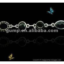 Sangles en cuir de diamant en métal (GBRD0173)