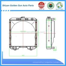 Myanmar radiador em cobre da fabricação de Shiyan na China.