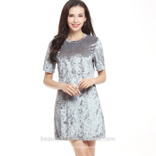 блесток платье знаменитости бутик дешевое золото и серебро бандажное платье 2017 SD09