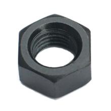 Tuerca hexagonal de acero al carbono negro DIN934