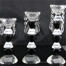 Promotionnel de qualité supérieure bon marché bon marché votive bougeoir en verre de luxe
