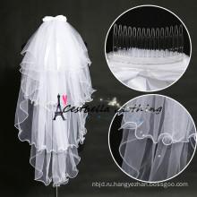 Шикарная фата с бантом белый свадебные цветок оголовье фата