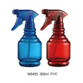 Botella plástica del rociador del disparador del PVC para limpiar (NB455)