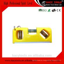 KC-37208 plástico barato mini keychain keychain nível com magnético