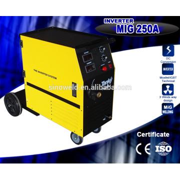 Alimentateur de fil de haute qualité approuvé CE Machine de soudage MIG souple à gaz à gaz monophasé à gaz monophasé à une seule phase Machine de soudage 200AMP
