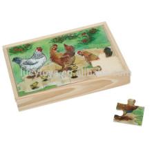 Hölzernes kundenspezifisches Kinderpuzzlespiel