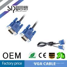 SIPUO alta calidad negro azul cabeza VGA línea línea de 1.5 m 3 + 2 hd VGA cable de acero revestido de cobre de ordenador VGA