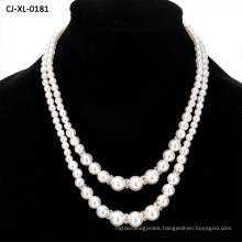 Manufacturers Wholesale Fashion Imitation Pearl Beaded Necklace Temperament Set Diamond Double Pearl Sweater Long Chain