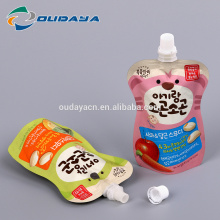 Plastic Packaging! stand up shaped liquid food packaging Pouch Bag with spout