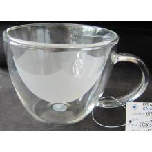 Двустенная боросиликатная стеклянная чашка для ужина (INNER LAYER FROSTING) *