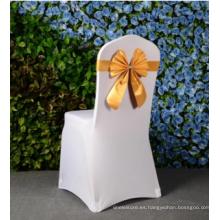 Buen material bowknot coloreado banquete silla silla de la boda decoración