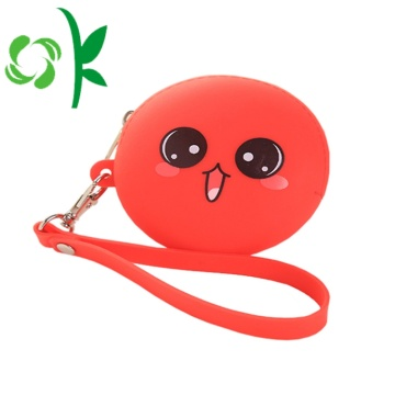 Round Shape Silicone Coin trường hợp thời trang tiền Purse