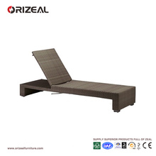 Outdoor Adjustable Rattan Beach Lounger OZ-OR059