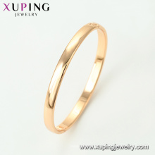 51564- brazaletes diseñados simples de la moda de la joyería de Xuping con el oro 18K plateado