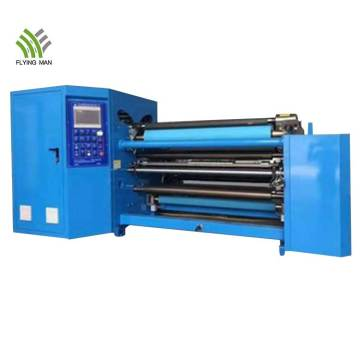 High speed precision roll plastic film slitting rewinder