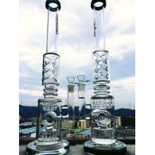 9 mm de vidrio grueso tubo de fumar tubo de vidrio recto tubo de agua de vidrio borosilicato reciclar interior por fumar tubo de agua Hbking