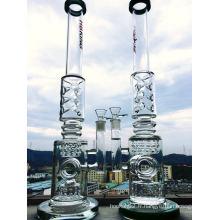 9mm verre épais Fumée Pipe Droit Tubes en verre Borosilicate Verre Eau Pipe Intérieur Recycler Perc Smoking Hbking Water Pipe