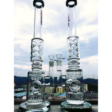 9 milímetros de vidro grossa Tubo de fumar Tubo de vidro reto Tubo de água de borosilicato de vidro Reciclagem interior Perc Smoking Tubulação de água Hbking