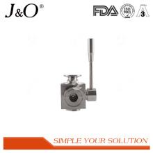 A melhor válvula de bola de aço inoxidável sanitária popular da maneira da braçadeira 3