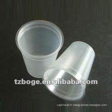 moule jetable en plastique de tasse