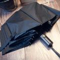 Abierto Automático Negro Doblando Tipo Paraguas Golf Rum0704-09