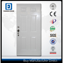 Unequal Double Steel Door with Decorative Tempered Glass Inserted