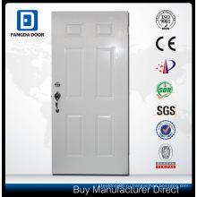 Неравные Двойная стальная дверь с декоративными закаленное стекло Вставить