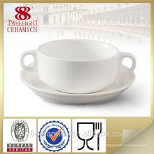 Venta al por mayor de porcelana china, cuencos de sopa de cerámica blanca