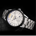 2016 fashion stainless steel back water resistant mechanical movement watch
