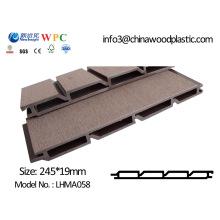 PE Painel de parede WPC com CE SGS Fsc ISO WPC Revestimento / Wall Covering Painel de parede à prova d'água (LHMA058)