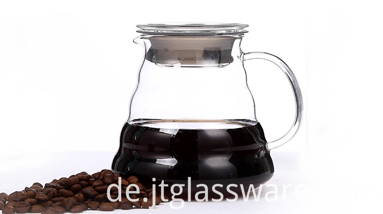 Glass heat cold resistant best quality coffee milk tea carafe pot pitcher
