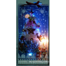 fashion christmas fiber optic lighted houses