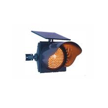 Luz de señal de tráfico de 300 mm con energía solar amarilla