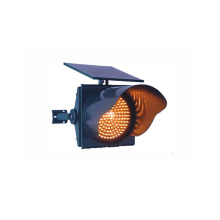 Yellow 300mm Solar Powered Traffic Signal Light