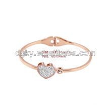 Rose Gold Plated Handmade Couple Gifts Love Bangle