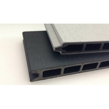 Não os painéis de madeira de borracha do revestimento WPC da superfície do patim para a parede