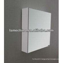 2013 one door MDF white painted bathroom mirror cabinet