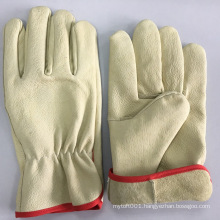 NMSAFETY Pig grain leather, driver style, wing thumb,unlined glove