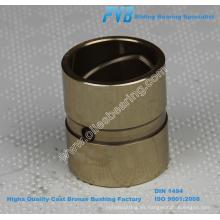 JDB-1U CuSn5Zn5Pb5 arbustos rectos de bronce, buen rendimiento BC6 aros de bronce fundido, C83600 fundición de bronce del rodamiento